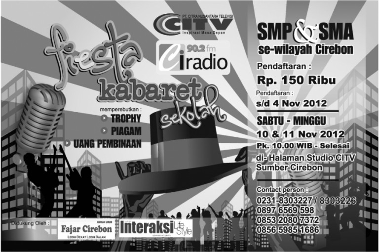 Fiesta Kabaret Sekolah ; SMP & SMA se-Wilayah III Cirebon