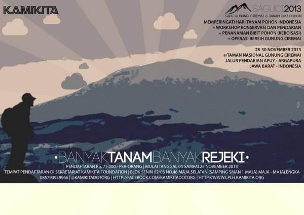 SAGUCI2013 : Sapu Gunung Ciremai dan Tanam 2013 Pohon