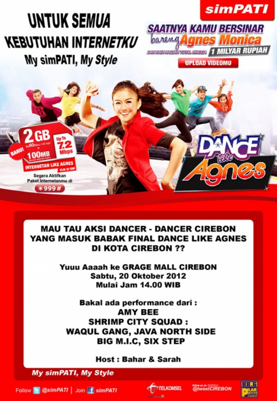 Babak Final DanceLikeAgnes di Grage Mall ; 20 Oktober 2012