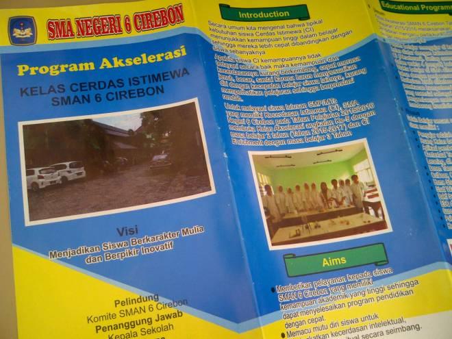 SMAN 6 Cirebon Membuka Pendaftaran Program Akselerasi Ke-5