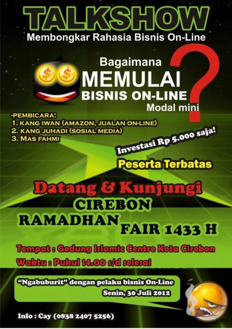 Talkshow ; Membongkar Rahasia Bisnis On-Line 30 Juli 2012