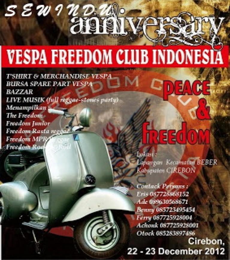 Sewindu Anniversary Vespa Freedom 22 – 23 Desember 2012