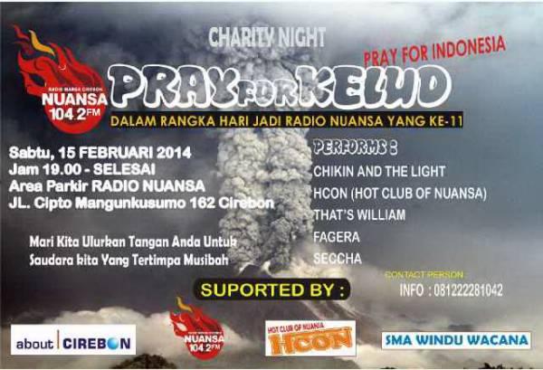 Nanti Malam, Radio Nuansa Gelar Penggalangan Dana Korban Gunung Kelud