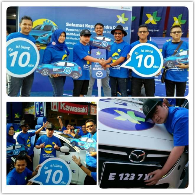 Indra Cahyadi warga Kuningan Raih Hadiah Mazda2 dari XL
