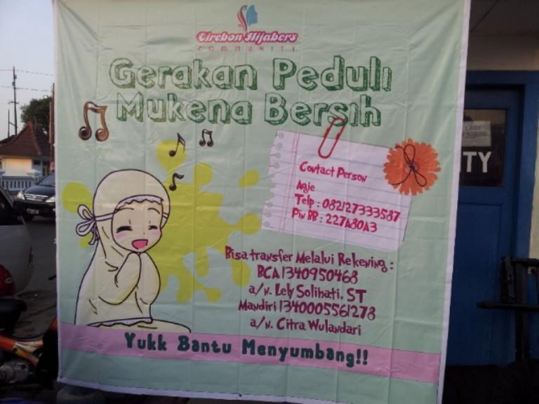 Gerakan Mukena Bersih w/ Hijabers Cirebon : 17 Juni 2012
