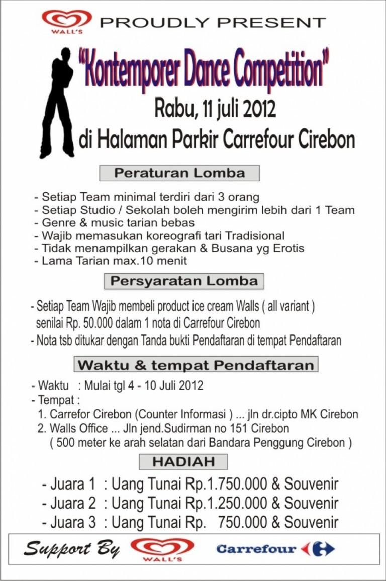 Kontemporer Dance Competition : 11 Juli 2012