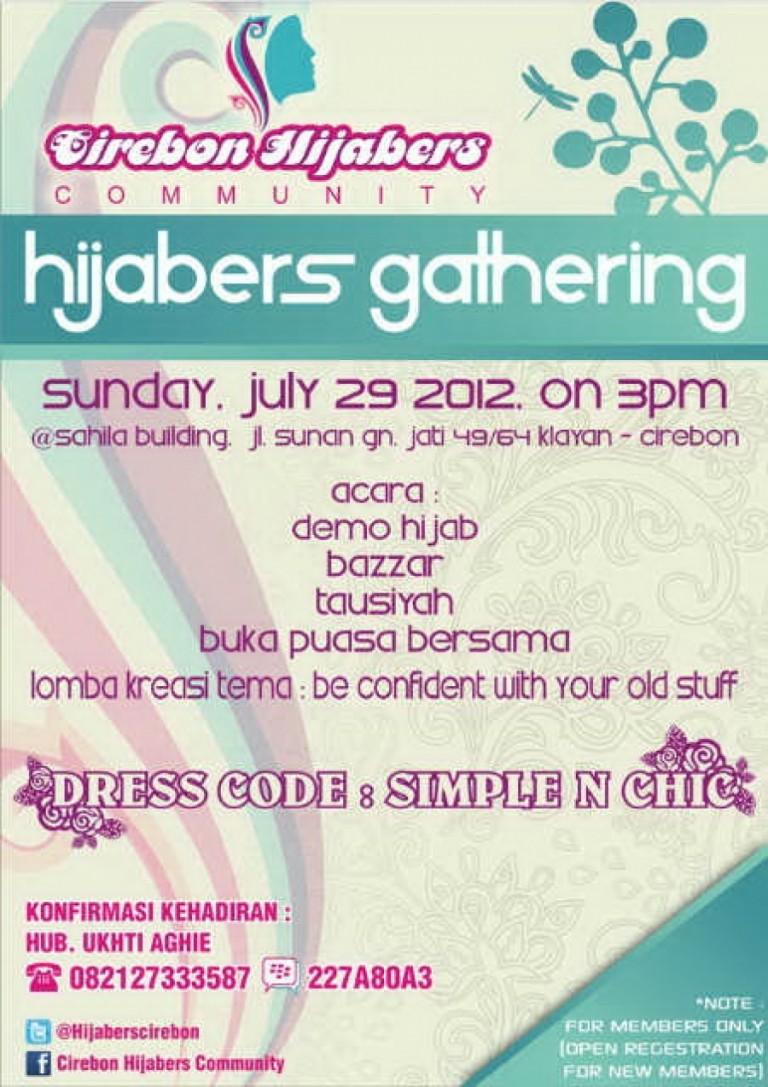 Gathering Hijabers Cirebon : 29 Juli 2012