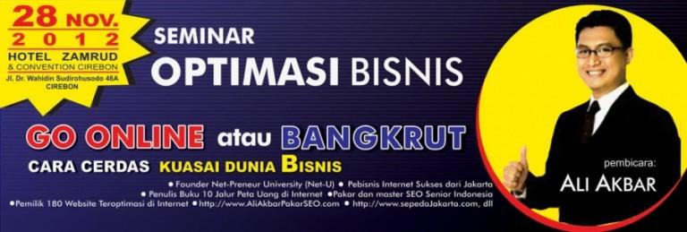 """Seminar Bisnis """"Go Online atau Bangkrut"""" 28 Nopember 2012"""