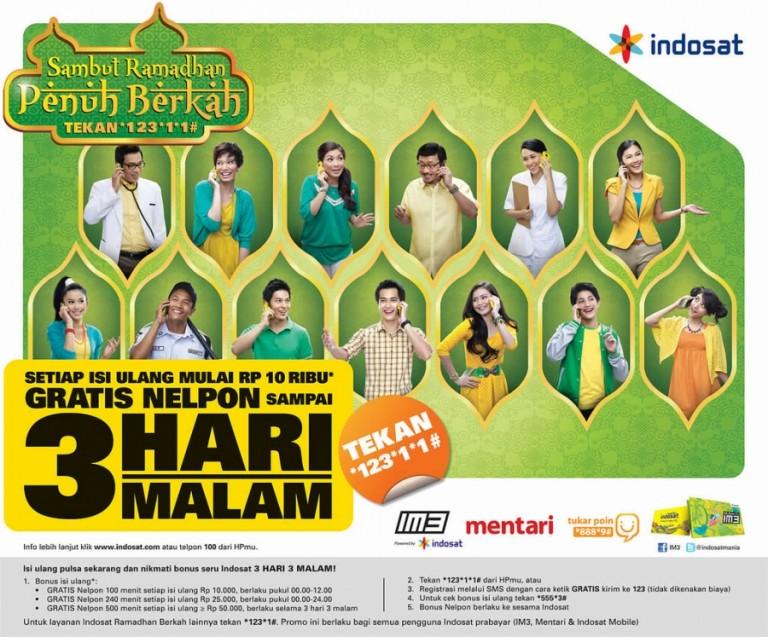 Indosat Hadirkan  Layanan GRATIS 3 Hari 3 Malam ++