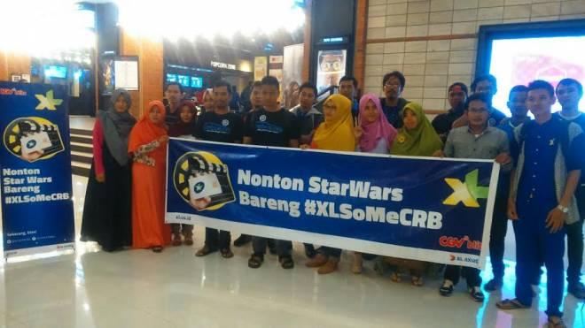 Apresiasi Pelanggan, XL Cirebon Gelar Nonton Bareng Film Star Wars