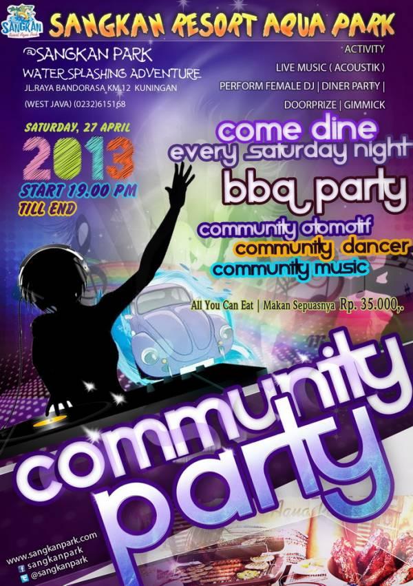 Community Party di Sangkan Park, 27 April 2013