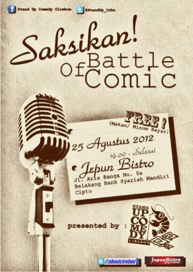 Battle of Comic : 25 Agustus 2012