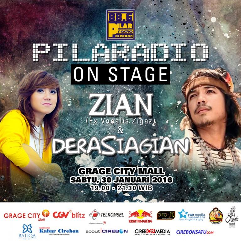Besok Malam, Zian & Dera Siap Hibur PilaRadio On Stage di Grage City Mall