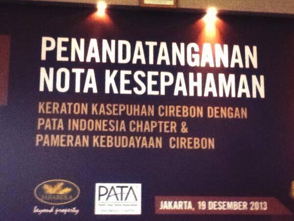 Keraton Kasepuhan Tandatangani MOU dengan Pacific Asia Travel Association