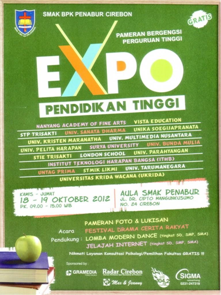 Expo Pendidikan Tinggi di SMAK Penabur, 18 – 19 Oktober 2012