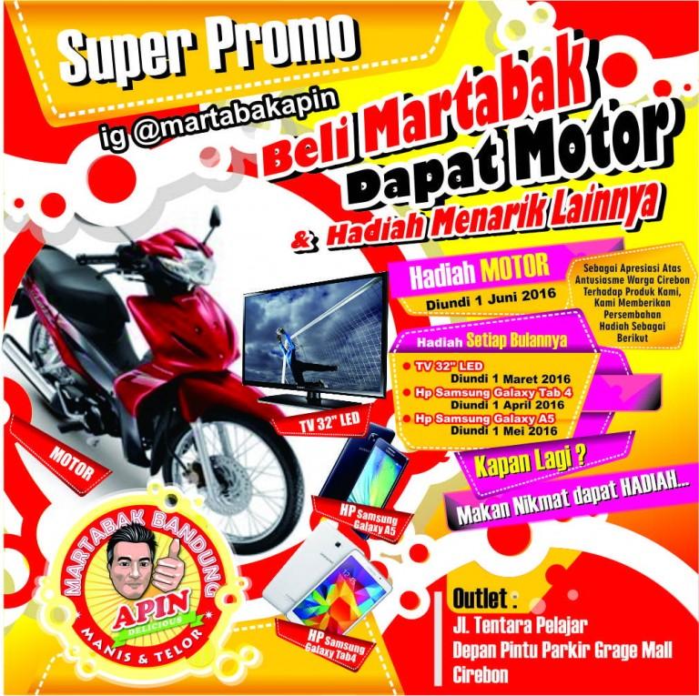 Apreasiasi untuk Warga Cirebon, Martabak Apin Sediakan Hadiah Motor