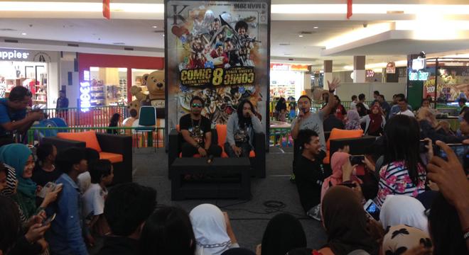 Serunya Meet and Greet Film Comic 8 di Grage City Mall