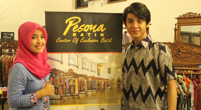 Sally Giovany, Owner Batik Trusmi Ikut Shooting Film Surat Untukmu