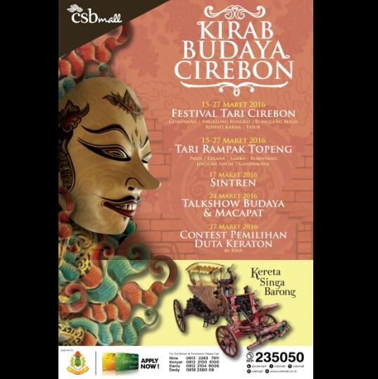 Besok, Kirab Budaya Cirebon Dari Keraton Kasepuhan Menuju CSB Mall