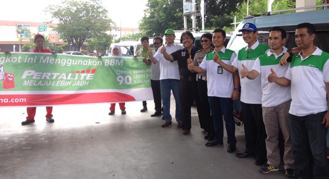 BBM Turun, Pertamina Giring Angkutan Kota di Cirebon Gunakan Pertalite