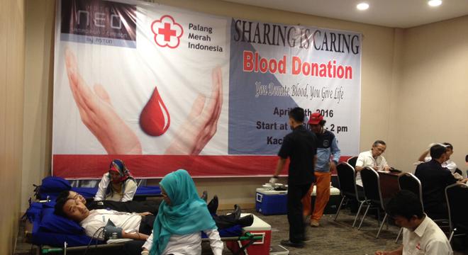 Neo Hotel Samadikun Cirebon Gelar Donor Darah