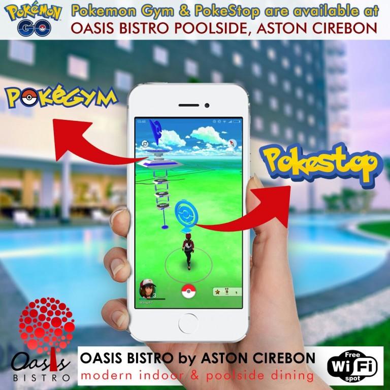 Main Pokemon Go Dapatkan Diskon di Oasis Bistro Aston