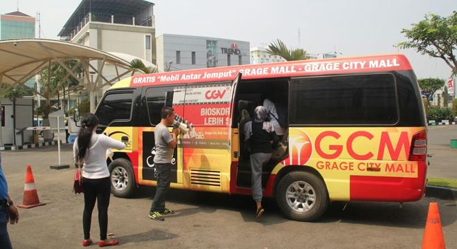 Mobil Antar Jemput Gratis dari Grage Mall ke Grage City Mall Bertambah Hadiah