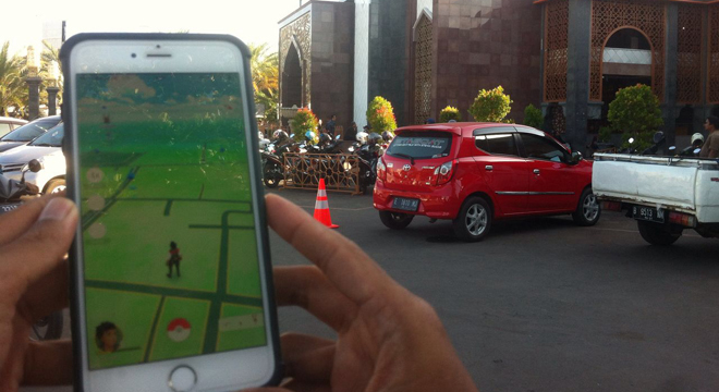 Permainan Pokemon Go Diminati Warga Cirebon