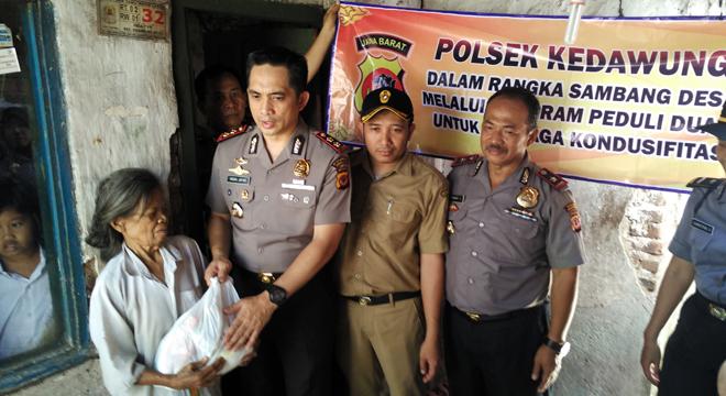 Program Sambang Desa, Kapolres Cirebon Kota Peduli Dhuafa