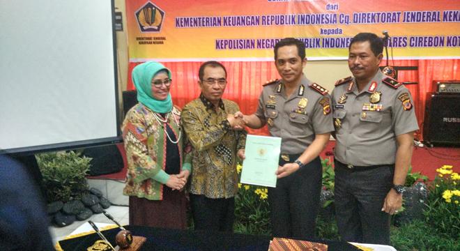 Polres Cirebon Kota Serah Terima Asset Tanah dari Kementerian Keuangan RI