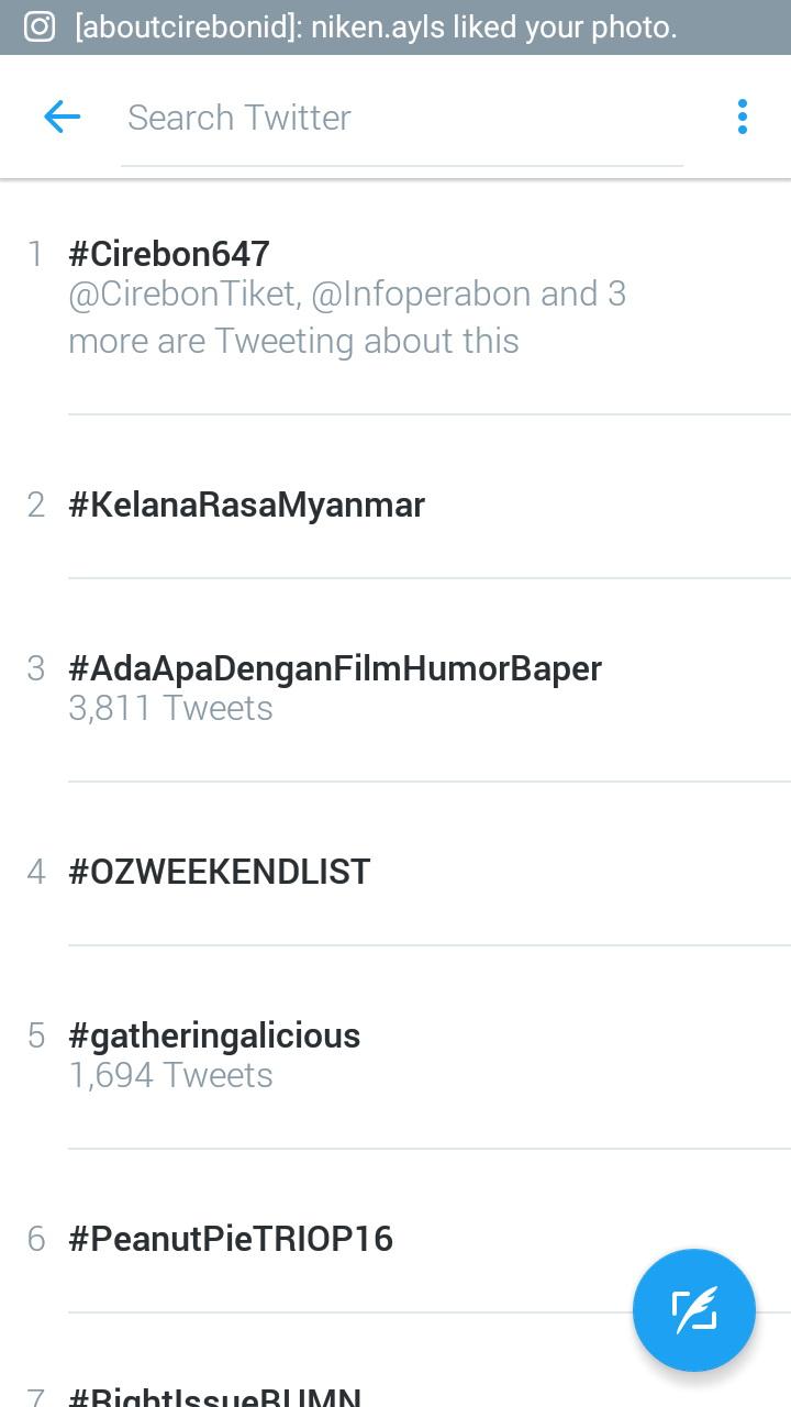 Hari Jadi Cirebon Ke-647, Hastag #Cirebon647 Jadi Trending Topic