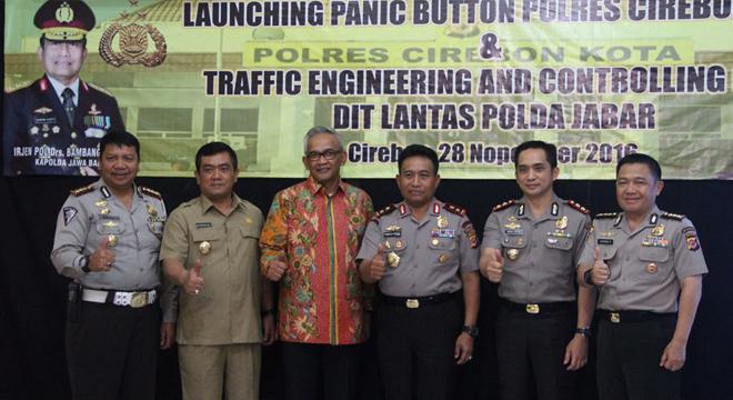 Polres Cirebon Kota Gelar Simulasi dan Peluncuran Panic Button di Grage Mall Cirebon