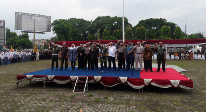 Apel Nasional Nusantara Bersatu Digelar di Alun-alun Kejaksan