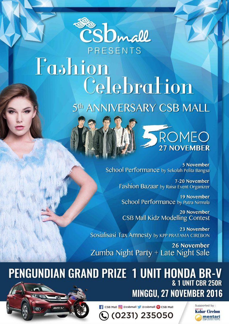 5 Romeo Akan Meriahkan Ulang Tahun CSB Mall ke-5