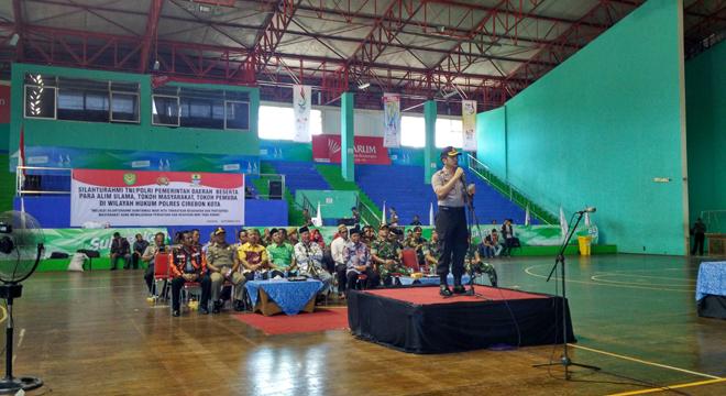 Wujudkan Persatuan dan Kesatuan NKRI, Polres Cirebon Kota Gelar Silaturahmi