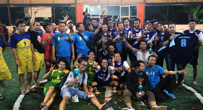 Jalin Silaturahmi, FSJC Gelar Turnamen Futsal Antar Media