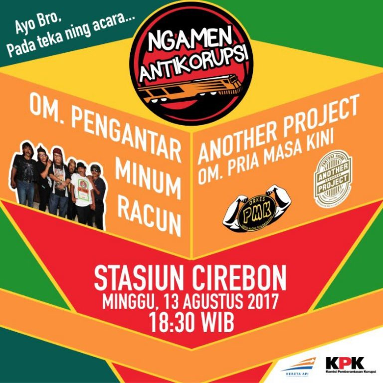 Besok Konser Ngamen Anti Korupsi di Stasiun Cirebon