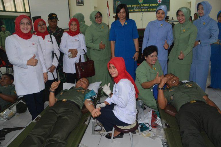 Memperingati HUT TNI ke-72, Korem 063/SGJ Gelar Donor Darah