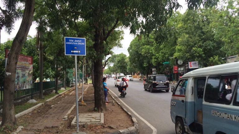 Baru 10 Titik Plang Penjemputan Transportasi Online di Kota Cirebon
