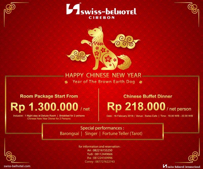 Inilah Acara Menyambut Tahun Baru Imlek di Swiss-Belhotel Cirebon