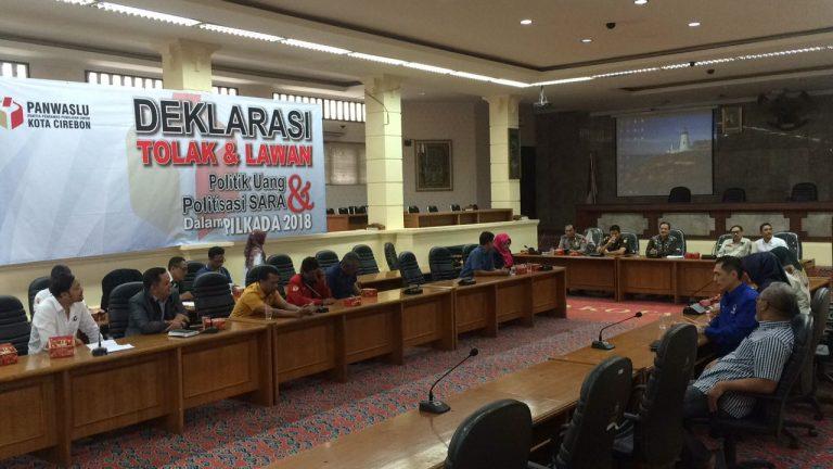 Panwaslu Kota Cirebon Gelar Deklarasi Tolak dan Lawan Politik Uang & Politisasi SARA