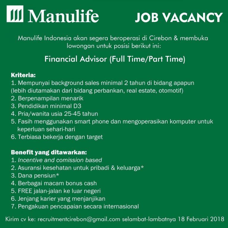Lowongan Kerja di Manulife Indonesia