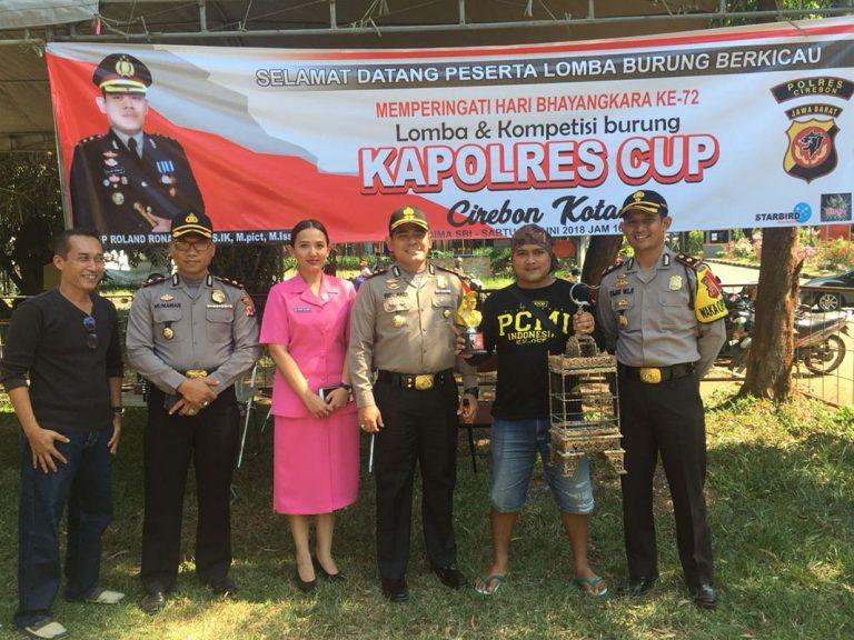 Ratusan Peserta Ramaikan Lomba Burung Berkicau Kapolres Cirebon Kota Cup 2018