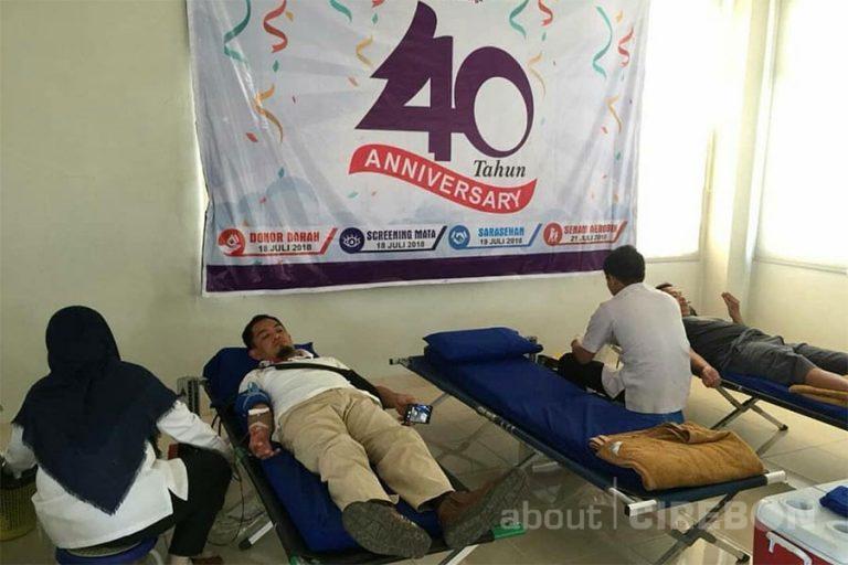 Rayakan Ulang Tahun ke-40, RS Sumber Kasih Gelar Donor Darah