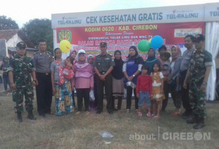 Tingkatkan Kemanunggalan TNI dengan Rakyat, Kodim 0620 Gelar Bakti Sosial dan Cek Kesehatan Gratis