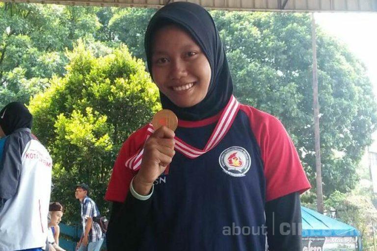 Sekar Almira Salsabila Wakili Lompat Jauh Jawa Barat Pada O2SN Tingkat Nasional 2018