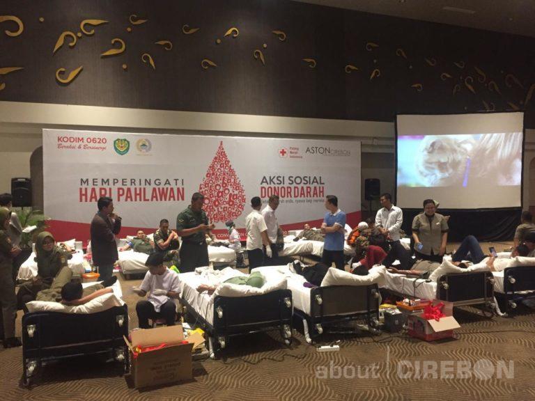 Aston Cirebon Hotel bersama Kodim 0620/Kabupaten Cirebon dan PMI Gelar Donor Darah
