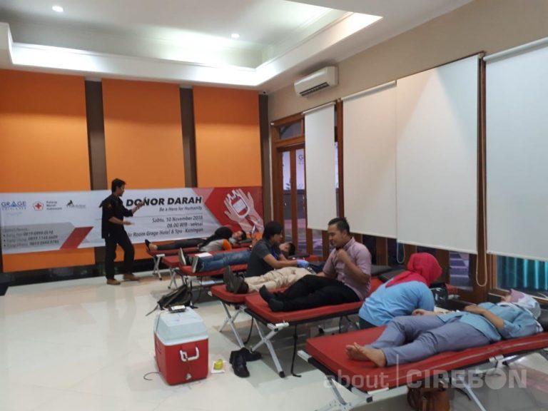 Peringati Hari Pahlawan, Grage Hotel Spa Kuningan Gelar Donor Darah