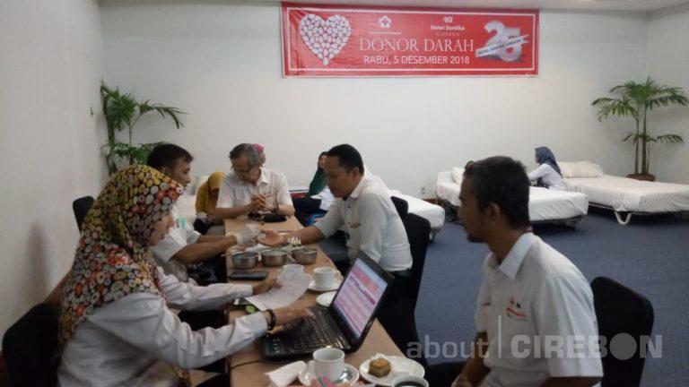 Ulang Tahun ke-25, Hotel Santika Cirebon Gelar Donor Darah