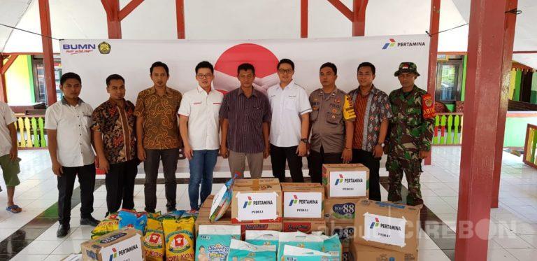 Pertamina Bantu Korban Angin Puting Beliung di Kabupaten Cirebon